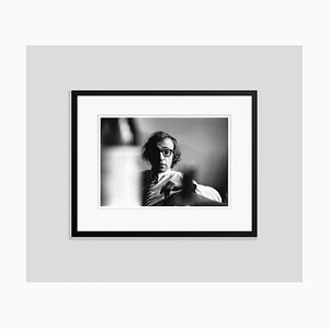 Woody Allen 1970 Silver Gelatin Print Framed in Black by Getty Images Archive