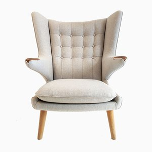 Vintage Papa Bear Armchair by Hans J. Wegner for A.P. Stolen, 1960s