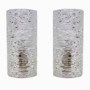 Apliques austriacos de cristal de hielo de Kalmar, años 50. Juego de 2