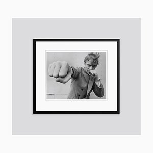 Michael Caine 1965 Silver Gelatin Resin Print Framed in Black by Stephan C Archetti