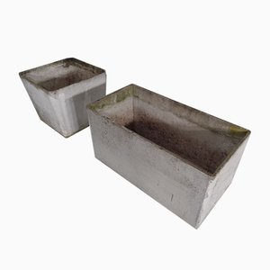 Concrete Planters by Willy Guhl, 1980s, Set of 2