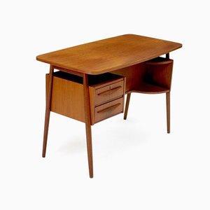 Mid-Century Danish Teak Desk by Gunnar Nielsen Tibergaard, 1960s