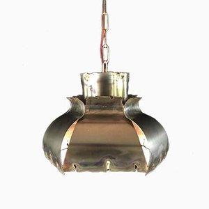 Lampe à Suspension Vintage en Laiton par Svend Aage Holm Sørensen pour Thea Metal, Danemark, 1960s