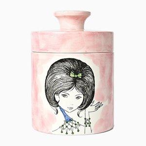 Mid-Century Italian Lidded Jar from Ceramica Di Milano, 1960s
