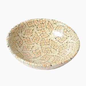 Vintage Mosaik Teller aus Keramik von Jean Gerbino