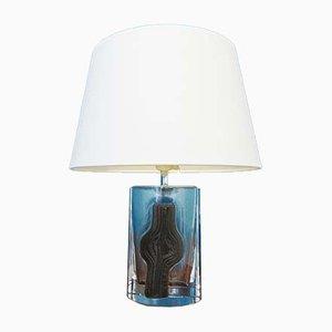 Französische Glas Tischlampe von Daum, 1960er