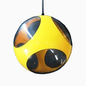 Mid-Century Space Age Yellow UFO Ceiling Lamp