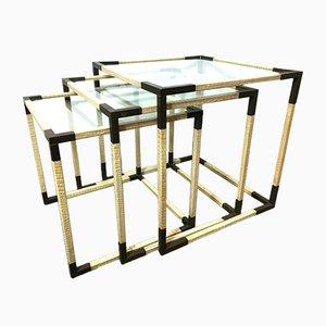 Tables Basses Interconnectables par Romeo Rega, Italie, 1970s, Set de 3