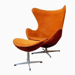 Egg Chair & Fußhocker von Arne Jacobsen für Fritz Hansen, 1967