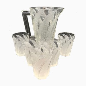 Hesperides Lemonade Set from R. Lalique, 1930s, Set of 6