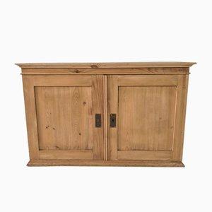 Mueble de tienda de comestibles escandinavo vintage de madera con taquillas, años 60