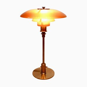 PH 3/2 Tischlampe mit bernsteinfarbenen Schirmen von Poul Henningsen für Louis Poulsen, 2018