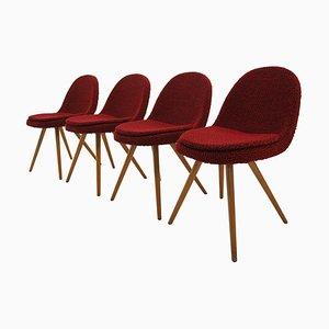 Mid-Century Esszimmerstühle von Miroslav Navrátil, 1960er, 1950er, 4er Set