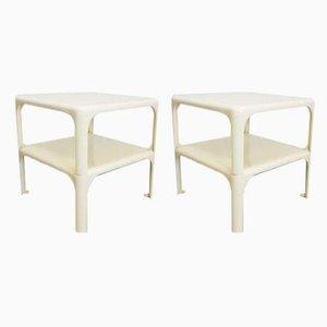 Tables Empilable Demetrio 45 par Vico Magistretti pour Artemide, 1960s, Set de 2