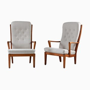 Mid-Century Scandinavian Lounge Chairs by Carl Malmsten, 1940s, Set of 2