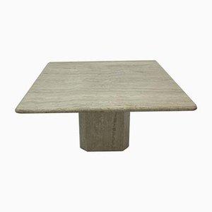 Table Basse Mid-Century en Travertin, 1970s