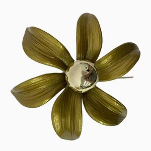 Flower Wall Light by Willy Daro, 1970s