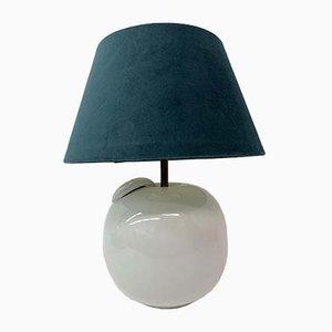 Lámpara de mesa Mid-Century de cerámica en forma de manzana, años 70