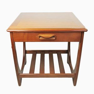 Mid-Century Teak Side Table with Magazine Rack from G-Plan, 1960s
