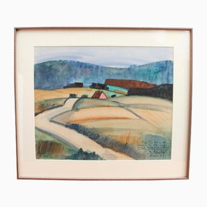 French Landscape by Georges Briata, 1950s