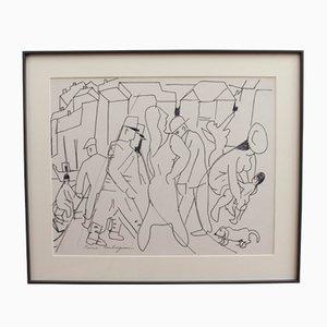 The Crowd par Pierre Ambrogiani, 1950s