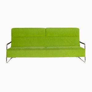 Sofá cama de dos plazas de tela verde de Ligne Roset