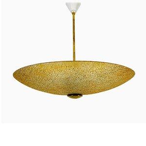 Lampe à Suspension Mid-Century en Verre Acrylique Attribuée à Boris Lacroix, 1960s
