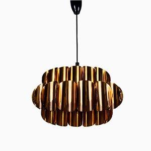 Copper Pendant Lamp from Temde Leuchten, 1970s