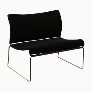 Vintage Foam, Fabric & Chromed Metal Armchair by Kazuhide Takahama for Gavina