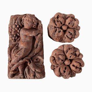 Tegole in terracotta, XVII secolo, Italia