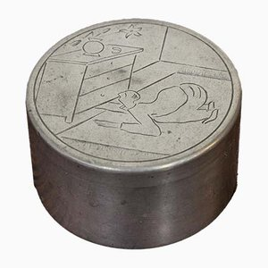 Pewter Box by Sylvia Stave for C. G. Hallberg, 1930s