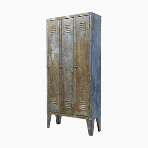 Vintage Industrial Distressed Cabinet