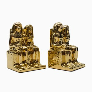 Hollywood Regency Italian Egyptian Ceramic from Bellini, 1970s, Set of 2