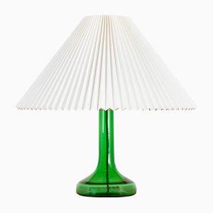 Lampada da tavolo Mid-Century in vetro verde scuro di Biilmann-Petersen per Holmegaard