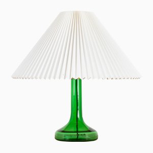Mid-Century Deep Green Glass Table Lamp by Biilmann-Petersen for Holmegaard