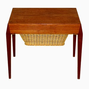 Table d'Appoint en Teck par Carina Verner Fredriksen pour Eric Gustafsson, Danemark, 1960s