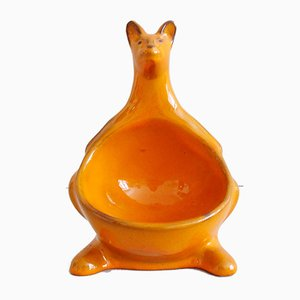 Orange Ceramic Kangaroo Figurine from Pan Keramik, 1970s