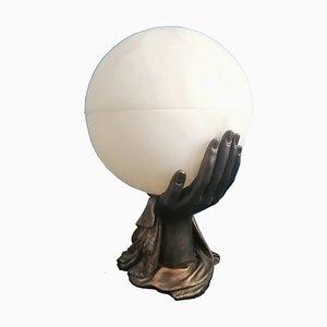 Lampe de Bureau Vintage Style Art Déco en Albâtre Naturel, France