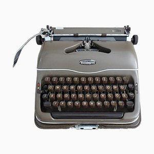 Mid-Century German Typewriter with Case from Triumph, 1950s