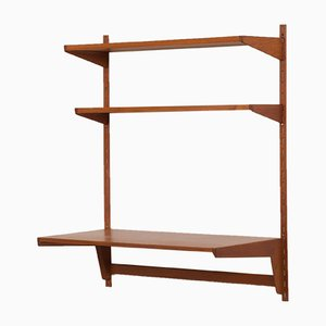 Teak Desk Set Wall Unit by Kai Kristiansen for FM Møbler, 1960s