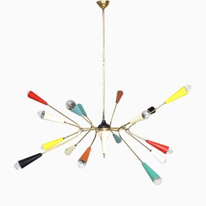 Lámpara de techo modelo Spider Sputnik de Stilnovo, años 50