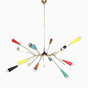 Sputnik Modell Spider Deckenlampe von Stilnovo, 1950er