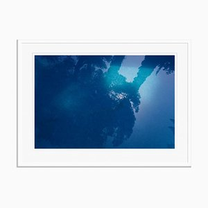 Blue Oversize Archival Pigment Print Framed in White by Stuart Möller