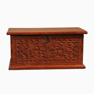 Small 19th Century Indian Teak Spice Chest