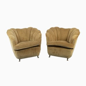 Vintage Beige Lounge Chairs by Gio Ponti, 1950s, Set of 2
