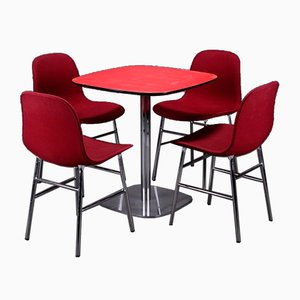 Danish Form Dining Table & Chairs Set by Simon Legald for Normann, 2012, Set of 5