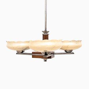 Lámpara de araña Mid-Century, años 40