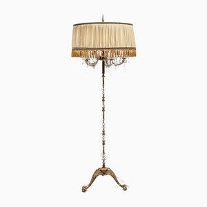 Lámpara de pie Mid-Century de cristal, años 50