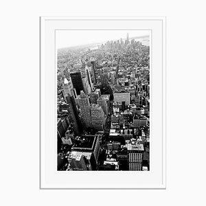 Manhattan Island Oversize Archival Pigment Print Framed in White by Stuart Christian Möller