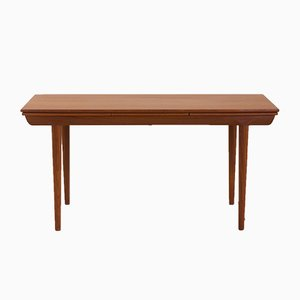 Danish Teak Extendable Dining Table in the Style of Johannes Andersen, 1960s